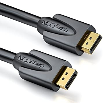 deleyCON 2m Cable DisplayPort - 4K 2160p 3D HDCP: Amazon.es ...