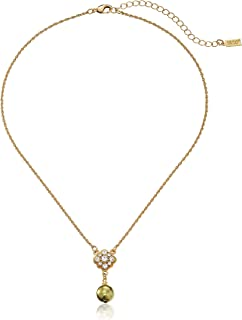 "product image for 1928 Jewelry Simulated Pearl and Crystal Adjustable Pendant Necklace, 16""+3'' Extender"