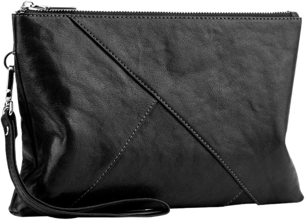 Cross-Section Clutch Bag Kmgjc Handbag Mens Color : Black, Size : 27cm3cm18cm Casual Envelope Bag Mens Wallets