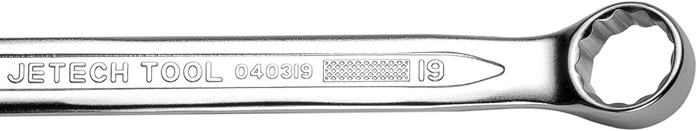 Cl/é en acier Cr-V haute r/ésistance finition sabl/ée /à profil mince Jetech 19/mm Cl/é anglaise mixte