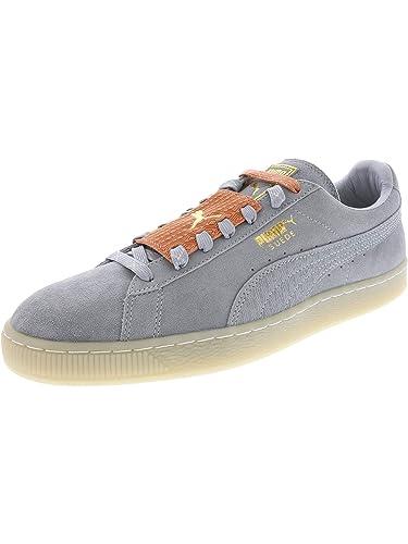 6879884b9e60 PUMA Suede Epic Remix Mens Blue Suede Lace Up Sneakers Shoes 8