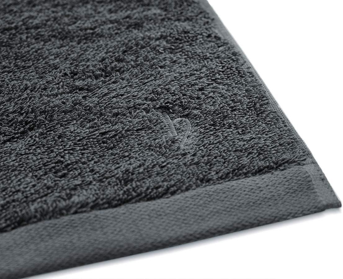 qualit/à premium 100/% cotone egiziano 600 g//m Set di 3 asciugamani per ospiti 30 x 50 cm antracite. 30 x 50 cm Herzbach Home Cotone