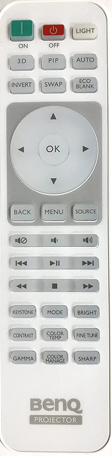 New USARMT Replaced BenQ 5J.J9M06.001 Projector Remote Control for BenQ Projector Models: HT1075 HT1085 HT1085ST HT2050 HT3050 HT4050 TH670 W1050 W1350 W1070+ W1070+W W1075 W1080ST+ W1110 i701JD i700
