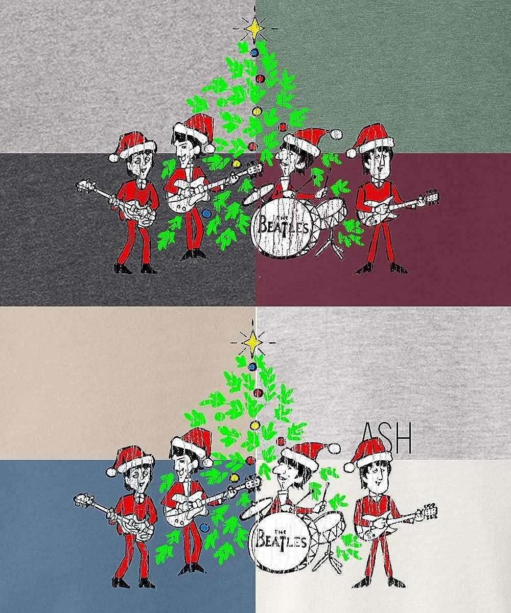his /& her threads Beatles Christmas Tree Gift Retro Graphic Long Sleeve Printed Sweatshirt Shirt