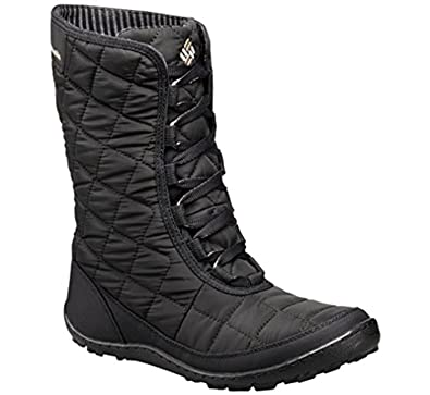 220d69c827ab92 Columbia Womens Crystal Mid Lace Thermal Coil Waterproof Winter Boots, Grey  Textile (6 B