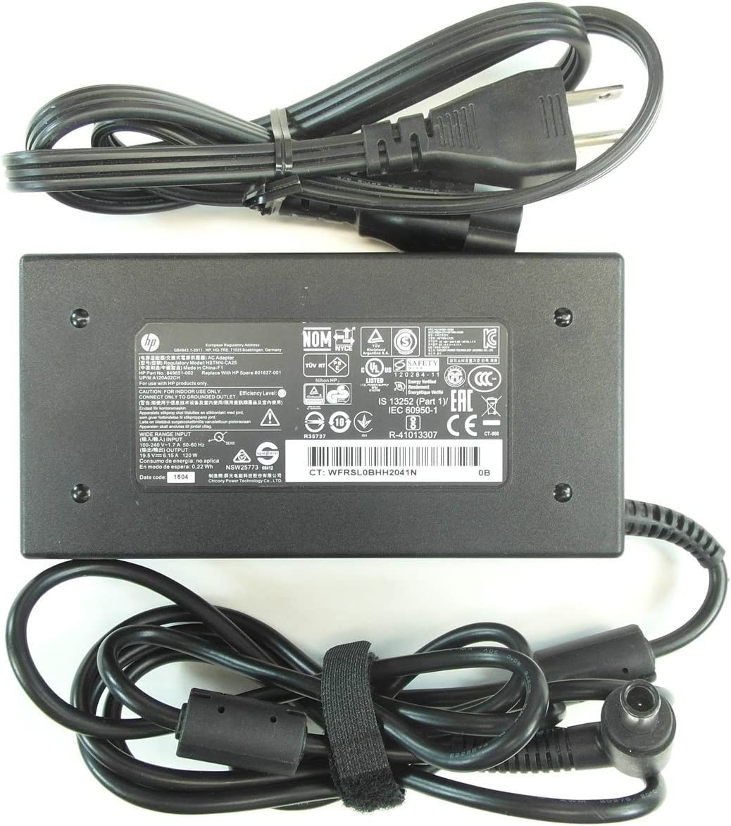 New Genuine HP Envy Pavilion 19.5V 6.15A 120W Smart Pin AC Adapter HSTNN-CA25 730982-002