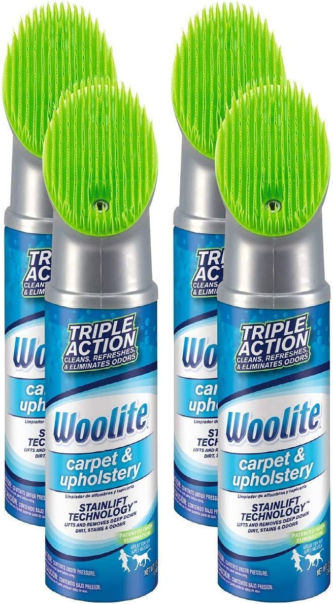 Woolite Carpet and Upholstery Cleaner Stain Remover, 4 Pack