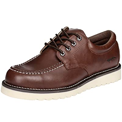 """Golden Fox Work Shoe 4"""" Moc Toe Leather Men's Oxford for Construction & Casual: Shoes"""