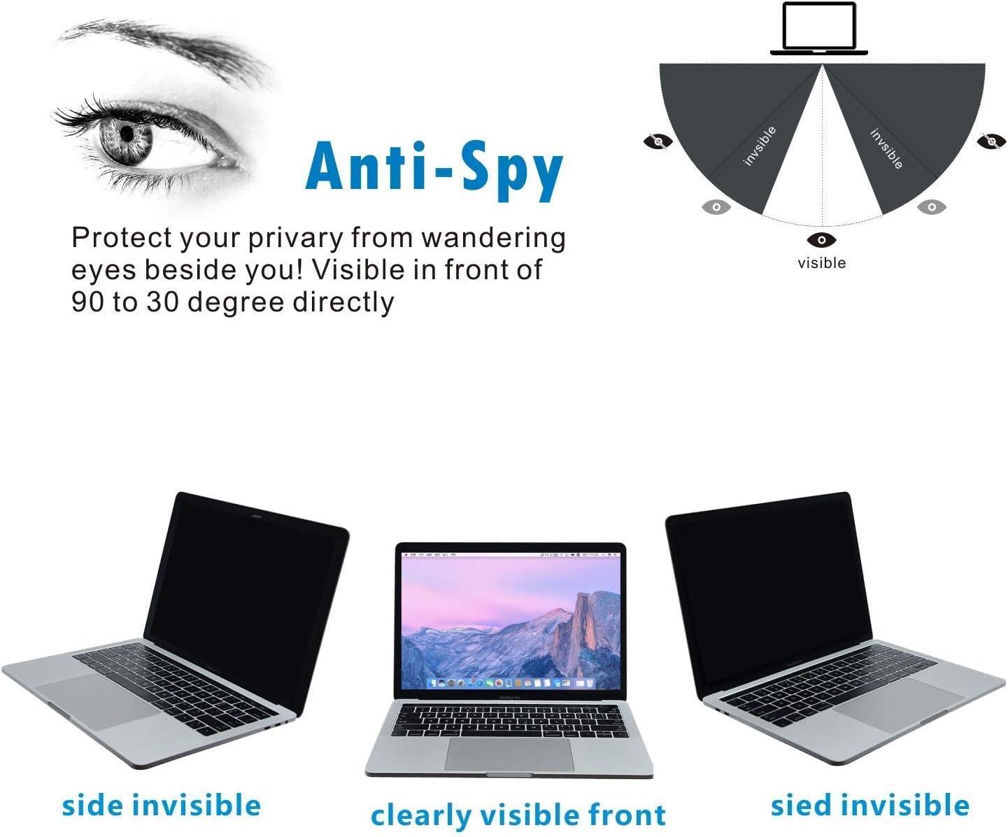 PaceBid Privacy Filter I Blickschutz Folie I Sichtschutzfolie kompatibel mit AppleMacBook Pro 15 Einfach zu entfernen /& wiederzuverwenden 2016-2018