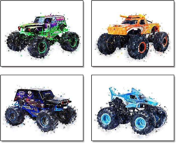 Top 10 Boy Room Decor Monster Trucks