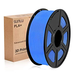 SUNLU 3D Printer Filament PLA Plus, 1.75mm PLA Filament, 3D Printing Filament Low Odor, Dimensional Accuracy +/- 0.02 mm, 2.2 LBS (1KG) Spool 3D Filament, Blue PLA+