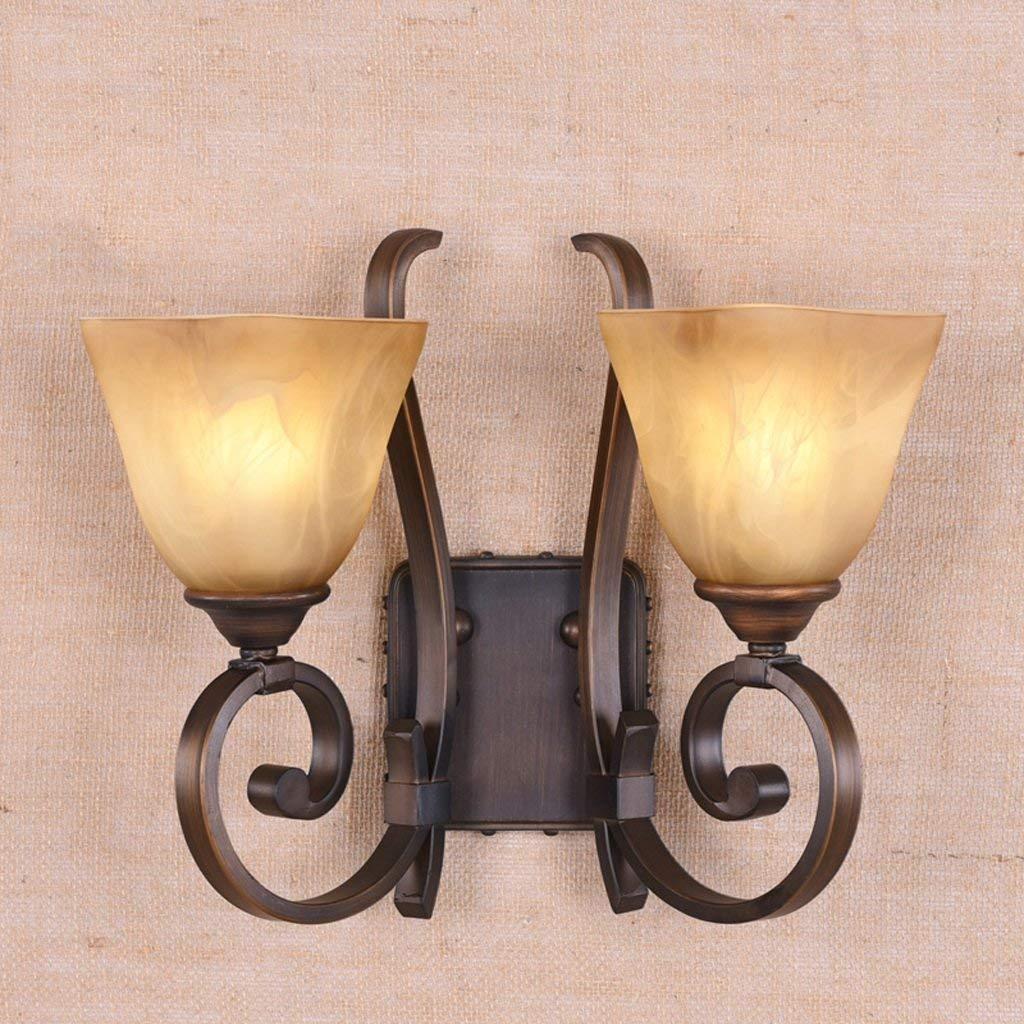 Lampada da parete a bagno americano anteriore speculare sullo sfondo della lampada lampada da parete a luce del corridoio selezionare (colore   B)