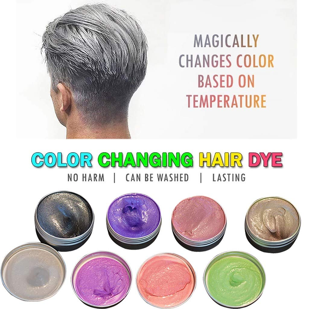 Cosplay Yncc Coloration Cheveux Temporaire-Temp/érature Changeante Cr/ème Cire Coloration Coiffure F/ête Masquerade,Soir/ée-Temporaire Colorant Teindre F/ête dhalloween Party-Facile /à Nettoyer