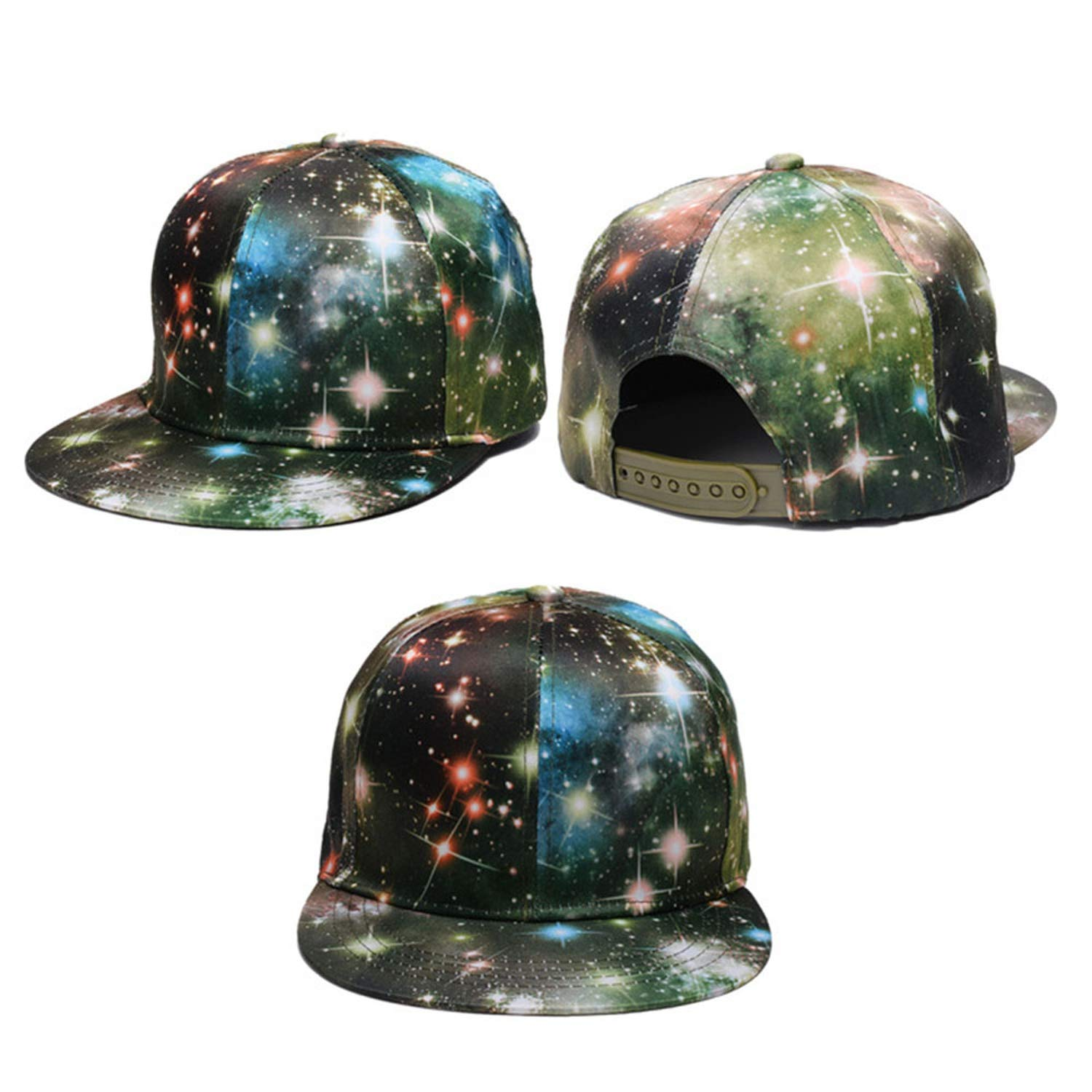 Brim Womens Baseball Cap Polyester Hip Hop Starry Sky 3D Printed Caps for Men Summer Women Man Caps Gorras