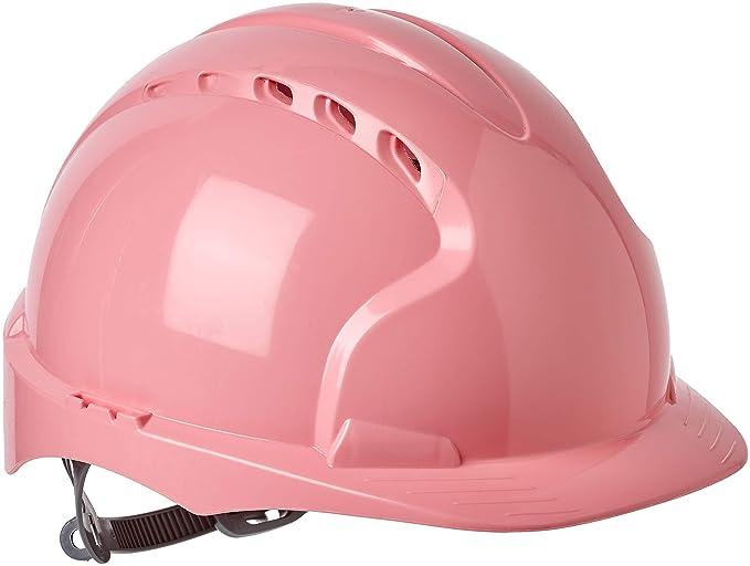 Casco de seguridad EVO2 con trinquete deslizante JSP, AJF030-003-900, con ranuras de ventilación, color rosa: Amazon.es: Ropa y accesorios