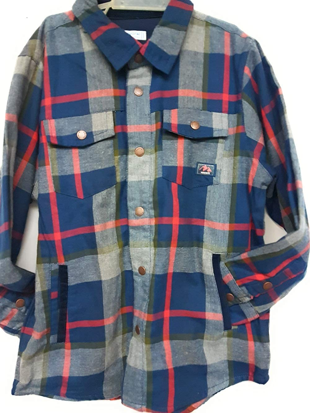 Mayoral Boys Plaid Button Up Jacket Style 4136