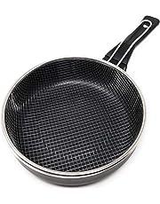 LS Kitchen - Sartén Freidora con Cestillo - Inducción Rápida - Negra