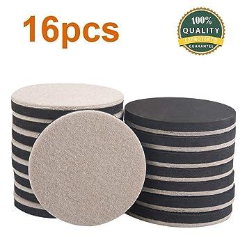 Ezprotekt 8,9 cm beige rund Möbelgleiter Möbel und Filz Pads Stuhl Bein Bodenschoner für Teppich, Hartholz und harte Oberfläc