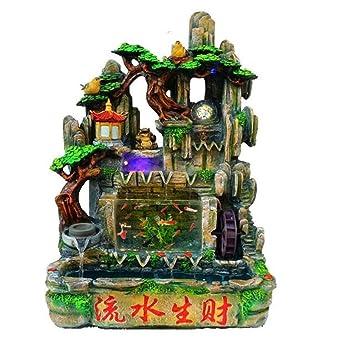 Feng Shui Wheel Rockery Fountain Water Fountain Creative Interior Decoration  Aquarium Water Table Desks Decoration