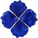 EDGEAM 1000PCS Silk Rose Petals Flower Scatters Wedding Party Festival Table Confetti Decoration (Royal blue)
