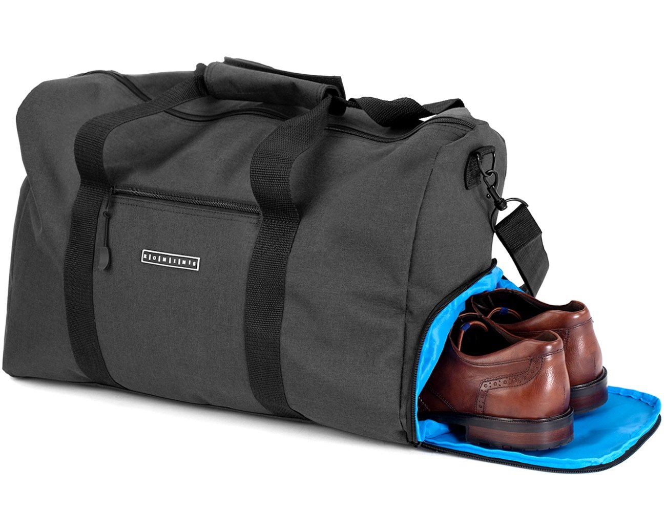 Sac de sport élégant Ronin Sac de voyage avec compartiment à chaussures et porte-bouteille d'eau | Sac à main de 38 litres 55x40x20 | Sac de week-end en toile de haute qualité pour homme et femme RNSWK01