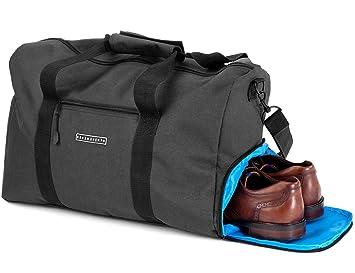 Elegante Bolsa deporte Bolsa de viaje con compartimiento para zapatos y portabotellas | Bolsa de mano de 38 litros 55x40x32 | Bolsas de gimnasio para ...