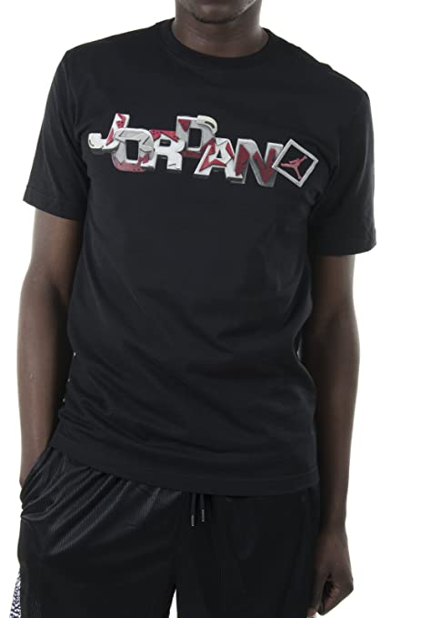 60d3fda9a93d5f Image Unavailable. Image not available for. Color  NIKE Air Jordan Men s  AJVI Go 23 Remix Print T-Shirt 613024 Size M Black