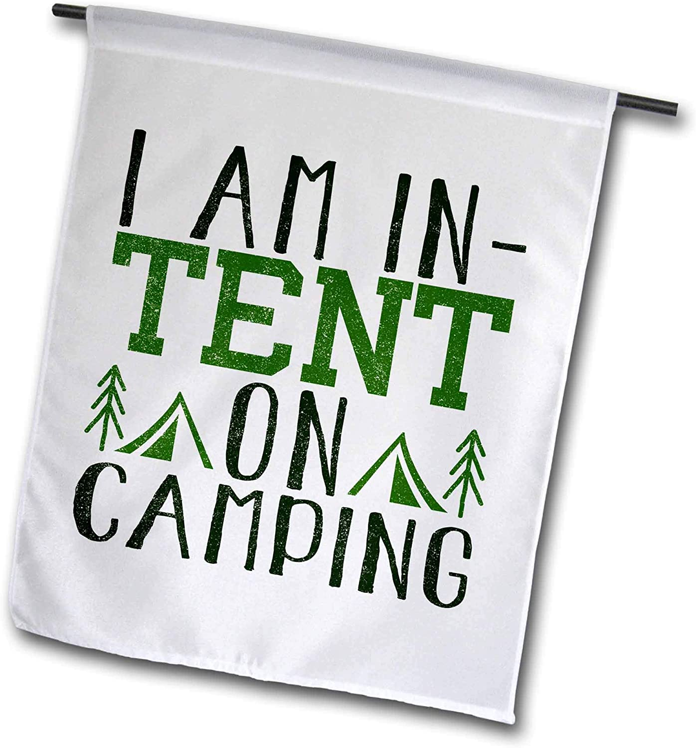 3dRose Anne Marie Baugh - Quotes and Sayings - I Am in Tent On Camping - 12 x 18 inch Garden Flag (fl_319242_1)