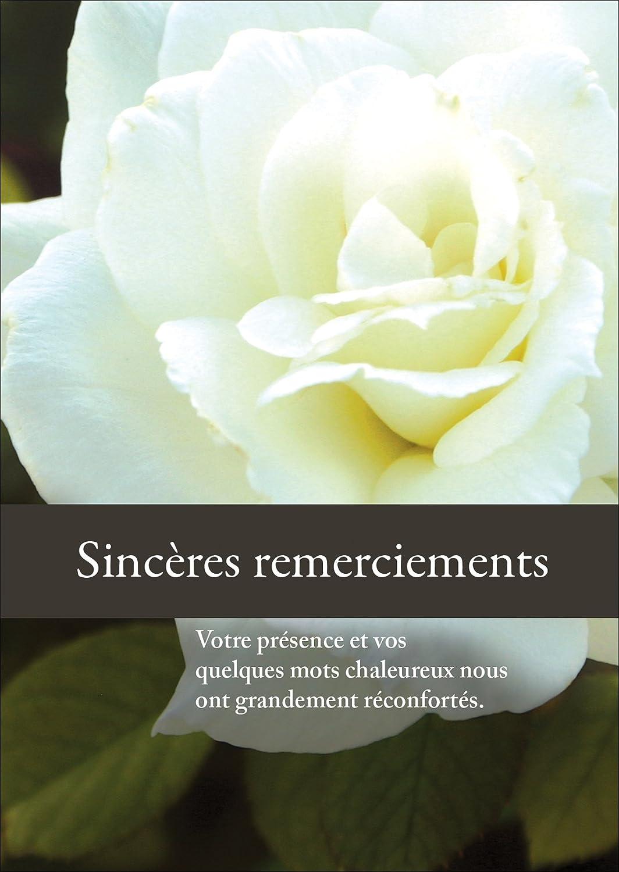 Bevorzugt Sincères remerciements - carte de remerciement deuil/ décès  DJ83