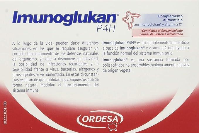 Imunoglukan Cápsulas - Complemento alimenticio, con vitamina C que contribuye al funcionamiento del sistema inmunitario - 1 cápsula al día