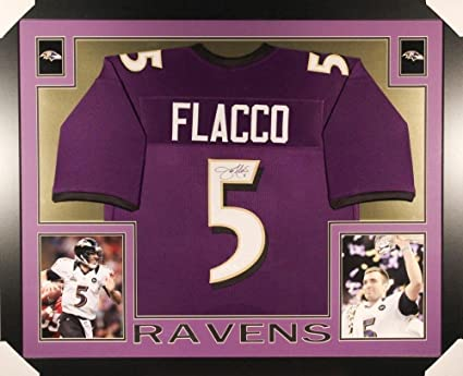 Image Unavailable. Image not available for. Color  Signed Joe Flacco Jersey  - Framed Matted - Autographed NFL Jerseys f0bd5ae71
