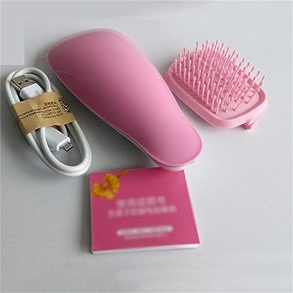 Cepillo Alisador Electrico de Masaje Negativo antiestático peine del pelo estático Pegamento de peluquería con carga USB: Amazon.es: Belleza