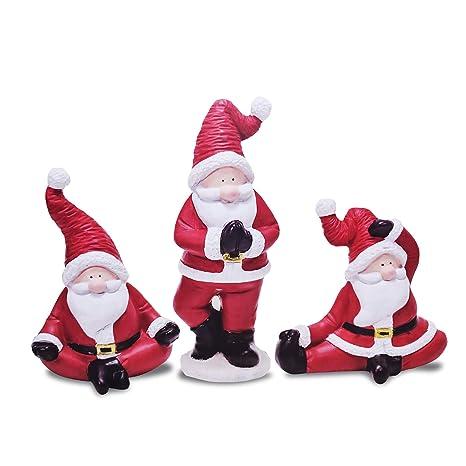 Amazon.com: Mark Feldstein Yoga Santas Set of Three Holiday ...