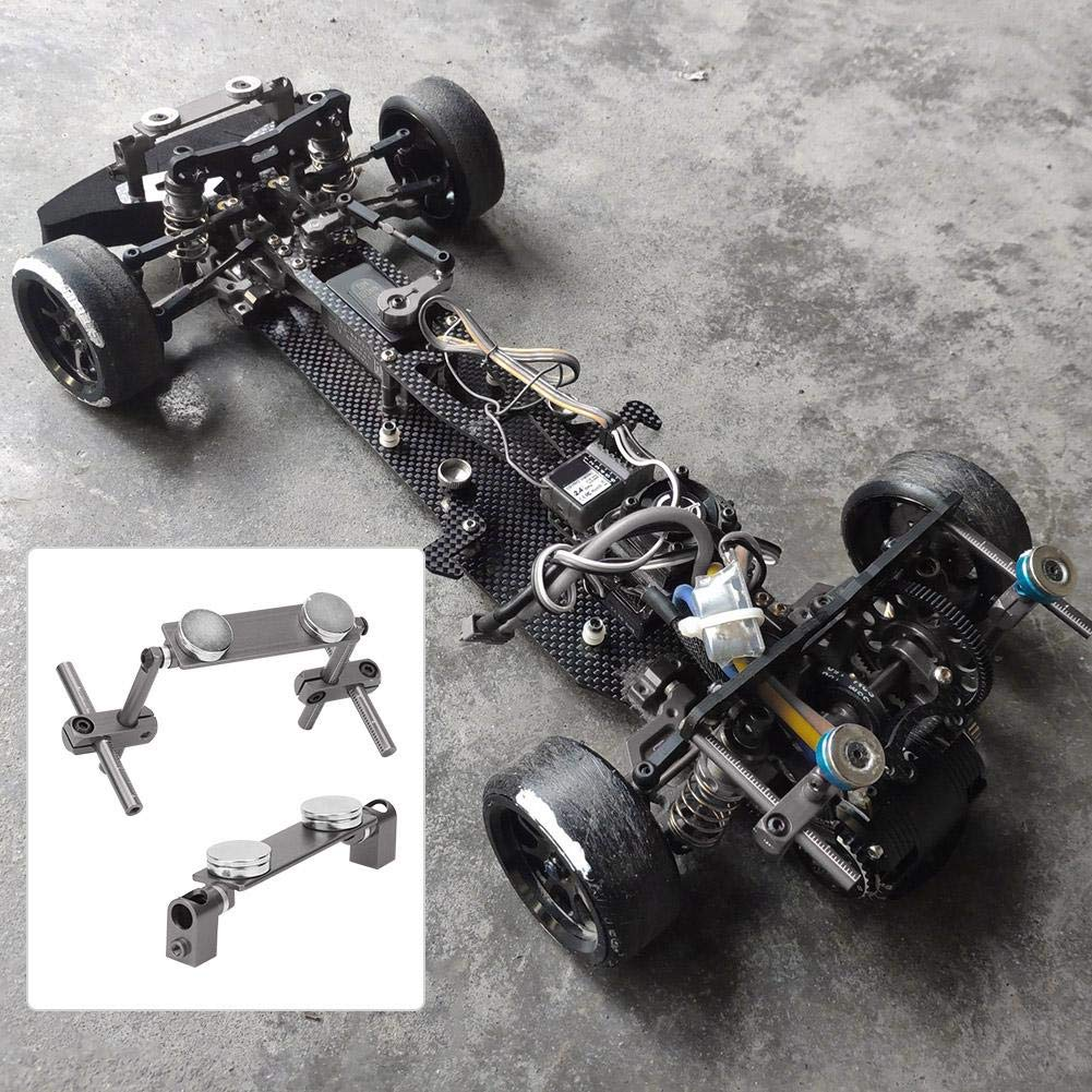 Shaluoman RC N10078 Alloy Magnetic Stealth Invisible Body Post Mount Model Car Black