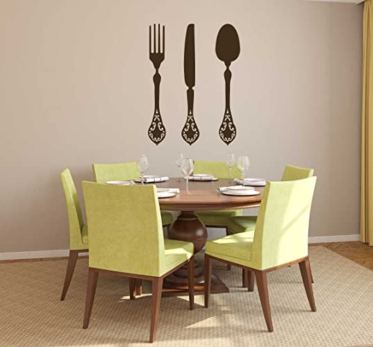 Kitchen Wall Decals, Fork Knife And Spoon, Dining Room U0026 Restaurant Decor  Vinyl Stickers