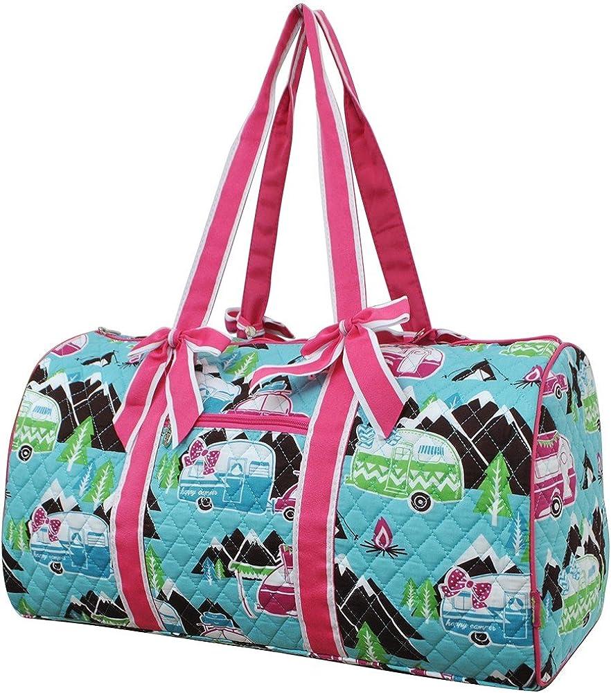 Owl Chevron Stripe Canvas Duffel Weekender Bag