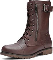 DREAM PAIRS Womens Mission Mid Calf Boot