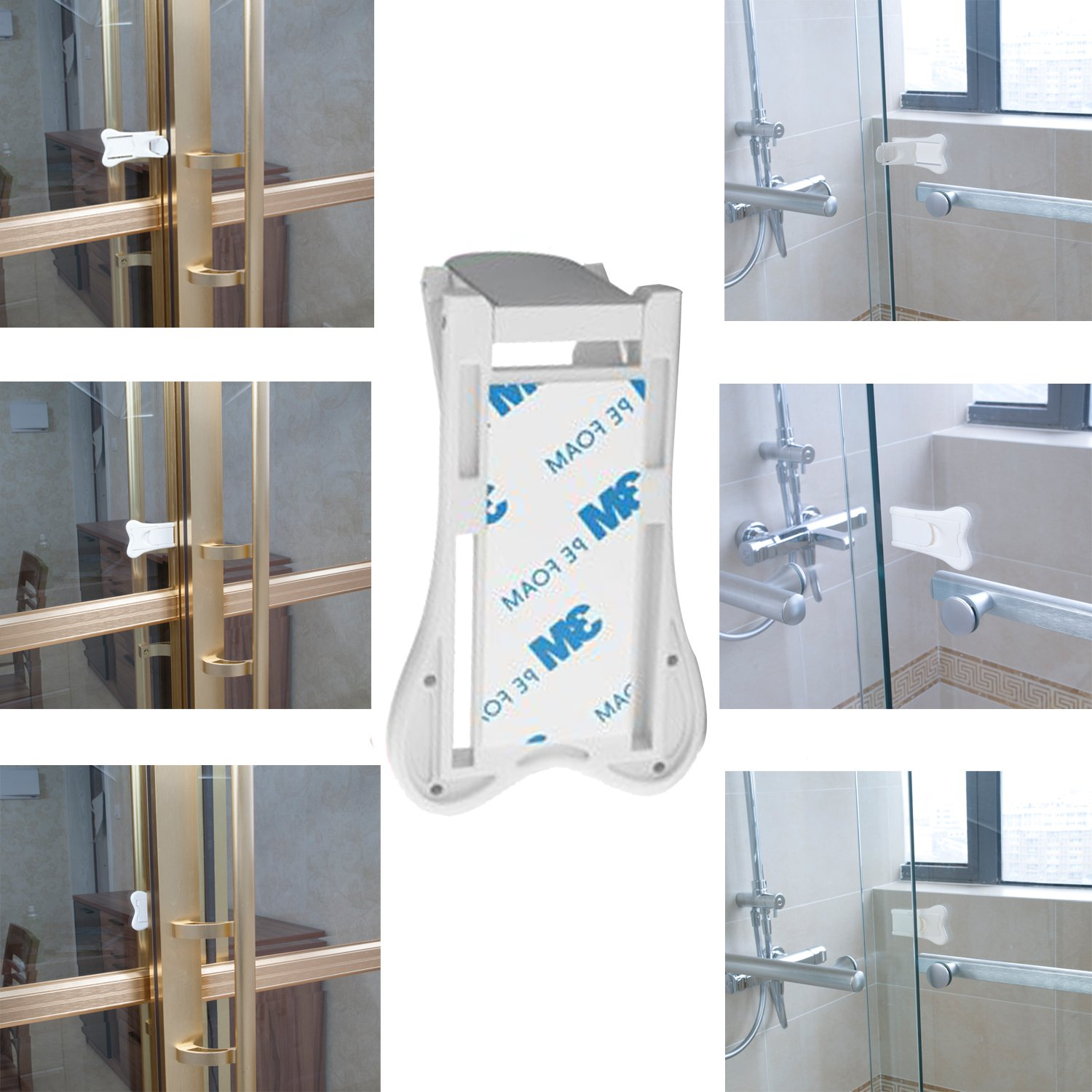 2pack Sliding Door Lock For Child Safety Baby Proof Lock