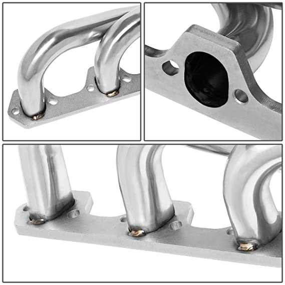 Pair Stainless Steel 4-1 Shorty Exhaust Manifold Header for Ford Bronco//F150//F250 5.0L V8 Engine 87-95