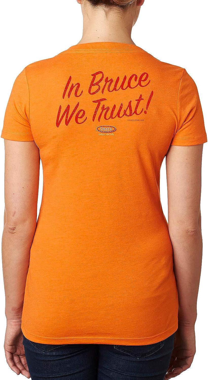 Sm-2x Tampa Bay Football Fans Bucco Bruce Ladies Creamsicle Orange Shirt