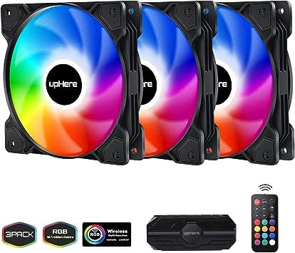 upHere 120mm - RGB LED Ventilador de PC: Amazon.es: Electrónica