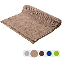 "Grand Era Absorbent Microfiber Shaggy Bath Mats 20"" ¡Á 31"", Coffee"
