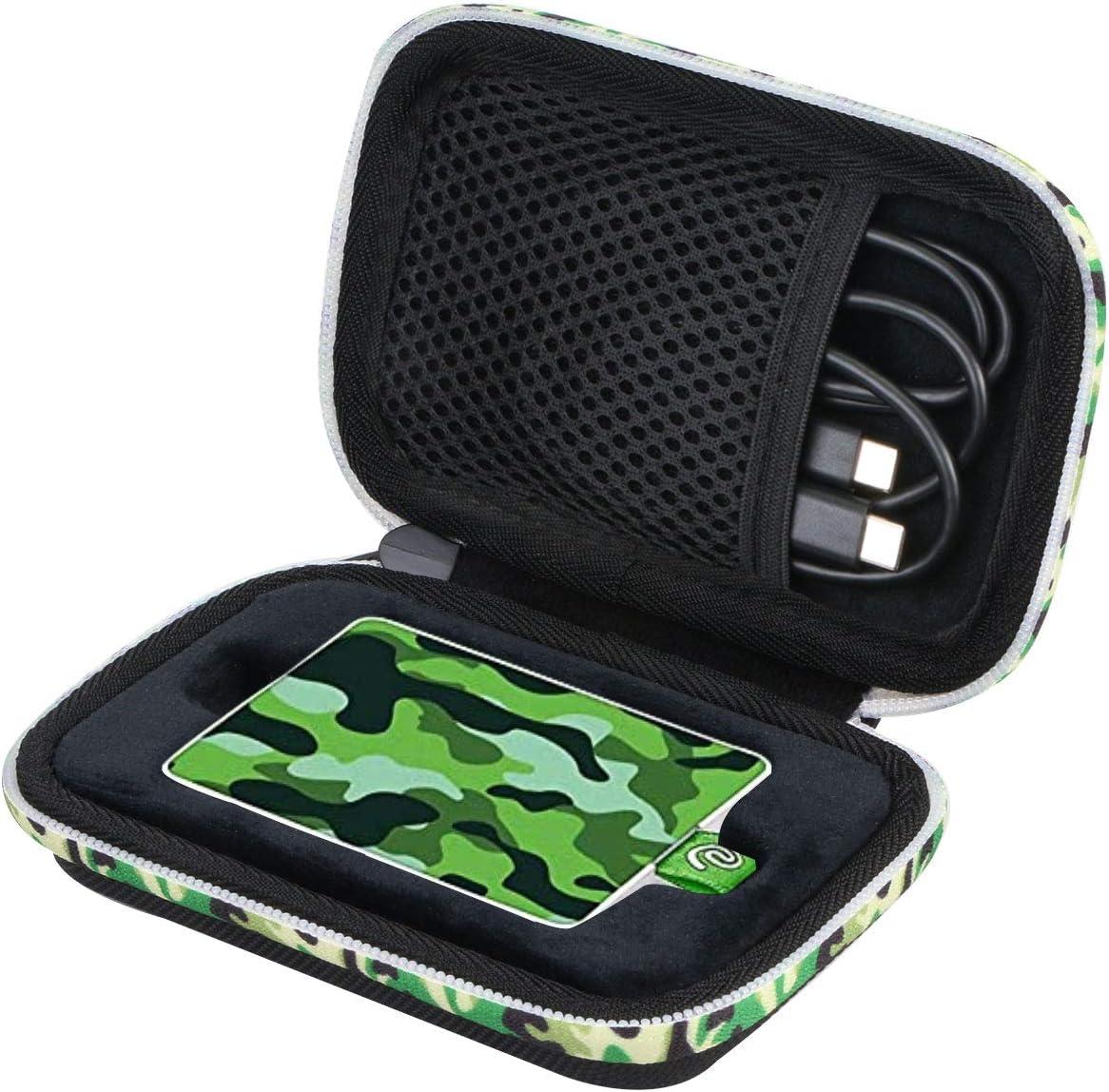 co2CREA Duro Viajar Caso Cubrir Estuche para Seagate One Touch SSD Unidad Estado sólido Externa 1TB/500GB (Fundas para One Touch SSD, Cremallera Camuflaje Verde): Amazon.es: Electrónica