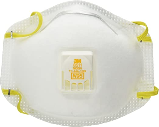 3m Mask Respirator 8511 N95 Cool Valve Dust With Particulate Flow