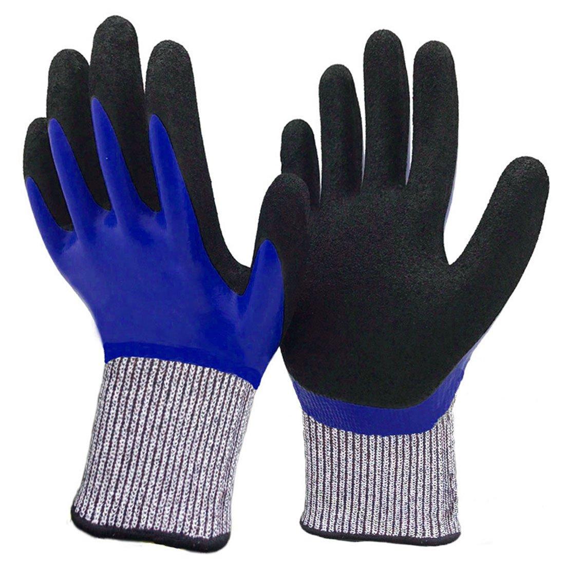 カット耐性手袋、レベル5保護安全手袋の処理の切削、ガラス、木工、メカニック、産業、庭、一般Duty。( Large ,ブラック) B073VQS55G S|Tough-Durable Tough-Durable S