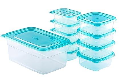 Chefu0027s Star 20 Piece (10 Containers U0026 10 Lids) BPA Free Reusable  Microwavable