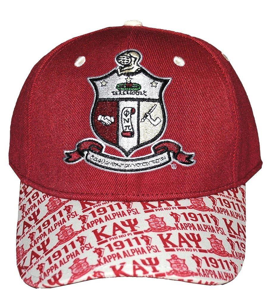 0b7a77f2d Amazon.com: Kappa Alpha Psi Mens 1911 Adjustable Cap Crimson red ...