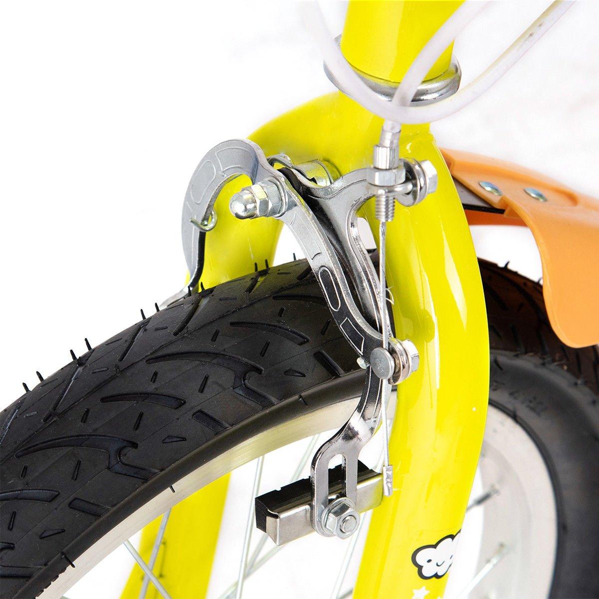 FDInspiration Yellow 45'' x 31.5'' Metal Frame Kids Bike w/Training Wheels with Ebook by FDInspiration (Image #9)