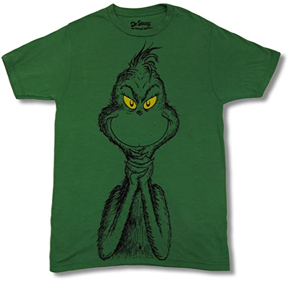 Amazon.com  The Grinch That Stole Christmas (Dr. Seuss) Mens T-Shirt ... 25f363065