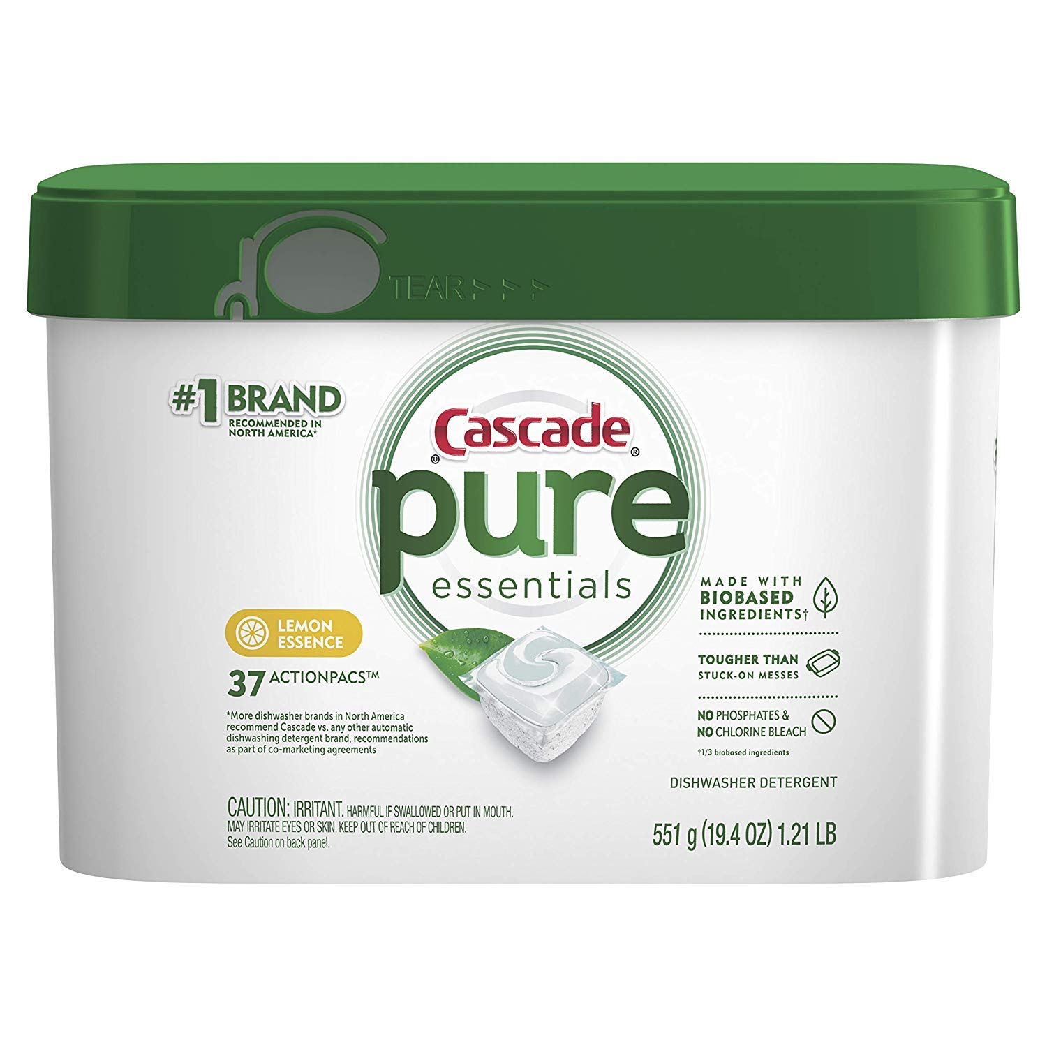 Cascade Lemon Pure Essentials Action Pacs (Pack of 10)